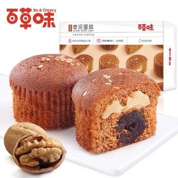 百草味 枣泥蛋糕360g 早餐枣糕点心