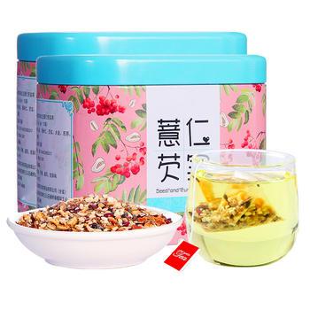 四月茶侬 薏仁芡实茶75g*2罐