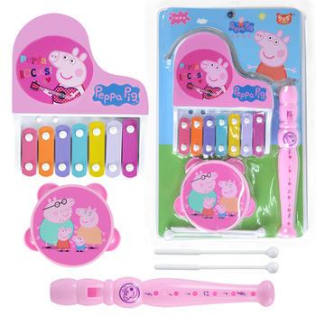 小猪佩奇迷你乐器组合三件套玩具