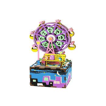 牙小白潮品擺件八音盒木質diy兒童女生生日禮物女孩