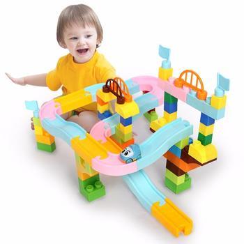 欧培益智玩具积木拼插滚珠款 65粒