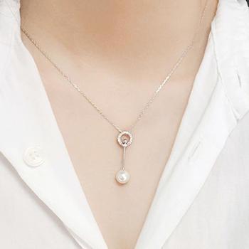 贝珠圆圈 锁骨项链