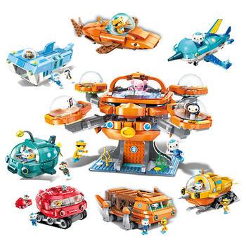 启蒙积木英国海底小纵队系列儿童拼插积木玩具