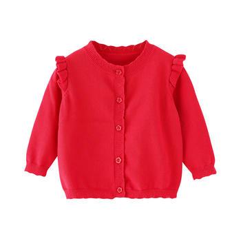 宝然女宝宝针织?#26469;?#31179;长袖外套