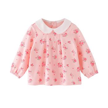 宝然女宝宝纯棉上衣婴儿娃娃衫