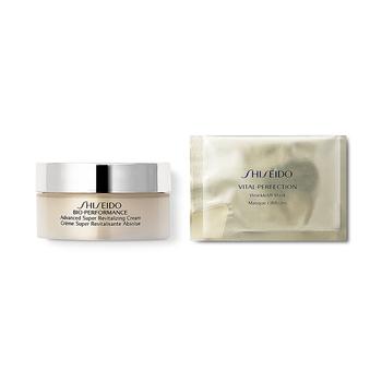 日本•资生堂 (Shiseido)2880档美力塑颜旅行装 (百优全新精纯乳霜18ml+悦薇珀翡塑颜抗皱眼膜(单片装)8g