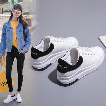 明星同款韩版小白鞋秋季跑步鞋子