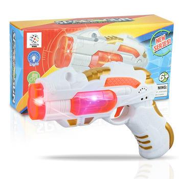 奥智嘉电动太空声光玩具枪八音枪