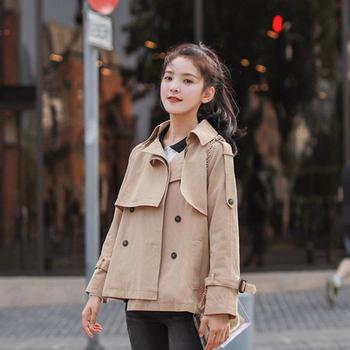 小贤 2019秋季新款短款小风衣修身款