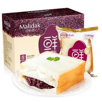 玛呖德紫米面包营养早餐面包1100g装