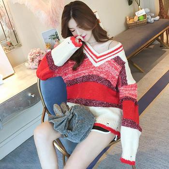 天使格格网红新款宽松套头针织衫