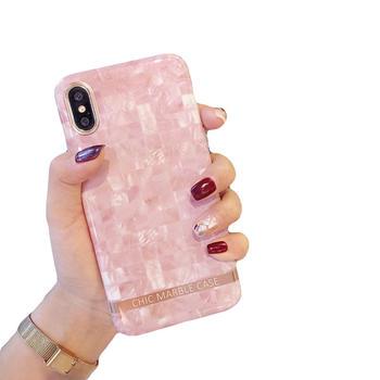 极步iphone苹果手机壳贝壳纹软壳女