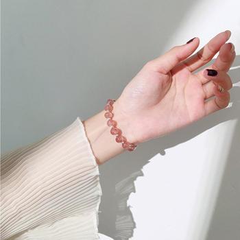显瘦显白 甜美草莓晶手链