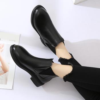 艾微妮热销新款简约复古休闲短靴