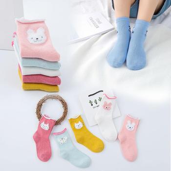 柳咖5双新款可爱卡通潮童袜