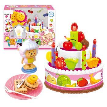 奥贝比儿童切水果女孩玩具蛋糕