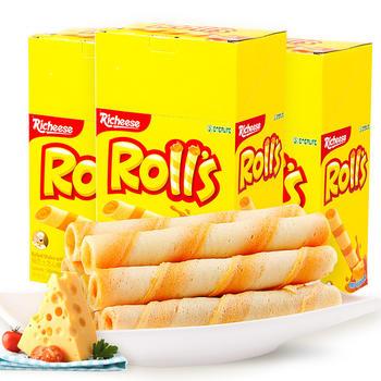 印尼进口零食Richeese奶酪味芝心棒180g*3盒