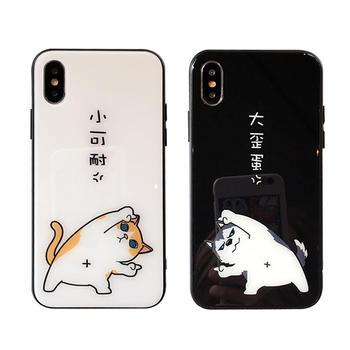 极步iphone苹果手机壳情侣款玻璃