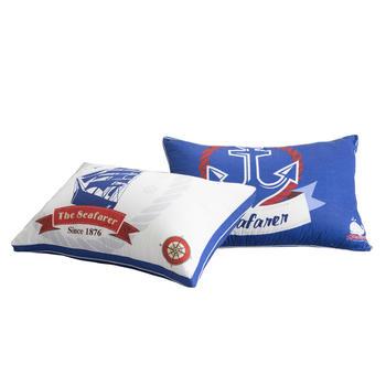 馨丝蓝羽丝绒全棉枕芯护颈枕头