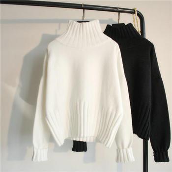 HYLS 套头宽松慵懒风高领针织衫
