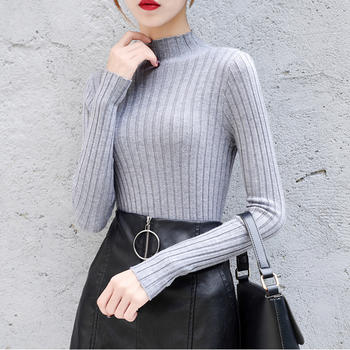 兰菲秋冬季新款套头修身针织衫