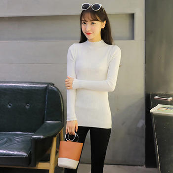 善洛新款韩版针织衫毛衣打底衫