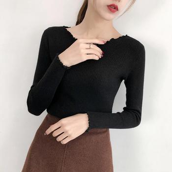 爱满里韩版套头修身显瘦针织衫