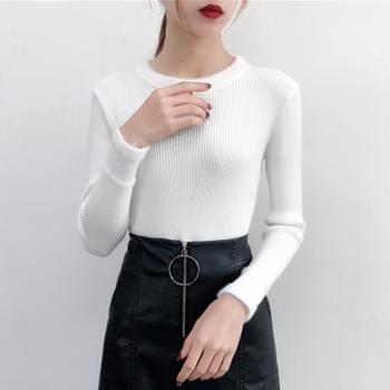 咸素秋冬韩版修身针织衫毛衣