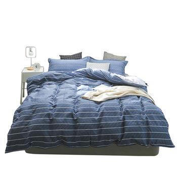 馨丝蓝四件套纯棉床单被套