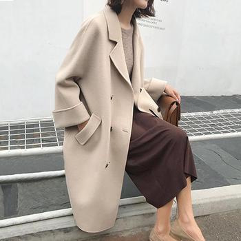 衣织优美 冬季加厚修身呢子大衣