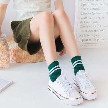 啵啵纯日系二条杠女袜10双装