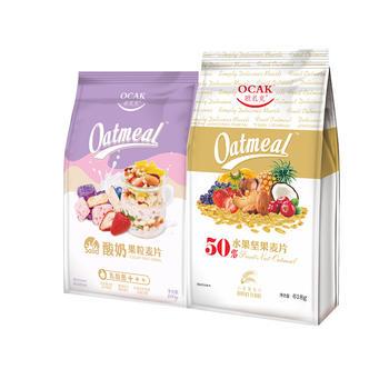 欧扎克小麦脆薄片+酸奶果粒麦片