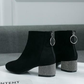 ADK秋冬新款复古英伦风尖头短靴