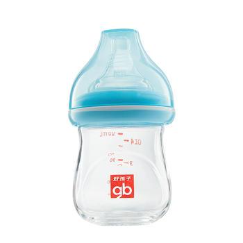 gb好孩子宽口径防胀气玻璃奶瓶【下单送奶瓶刷】