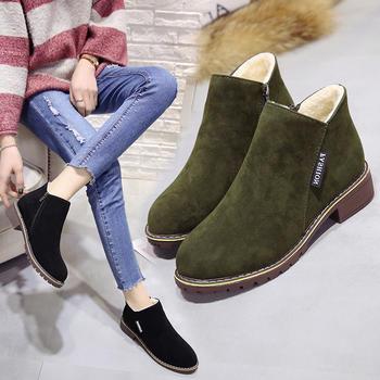 2018秋冬新款加绒加暖马丁靴韩版