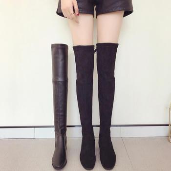 ADK过膝长靴冬季新款长筒靴加绒靴
