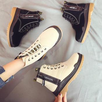 ADK马丁靴冬季新款英伦风加绒短靴