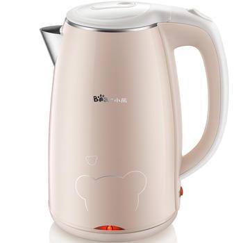 小熊电热水壶自动断电家用不锈钢保温热水壶65度恒温