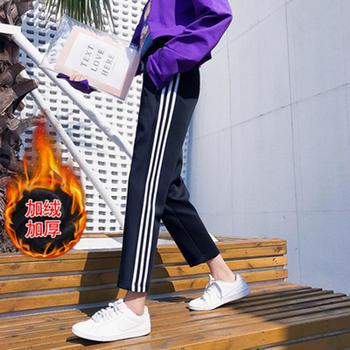 伊露伊香加绒裤子hiphop运动裤女