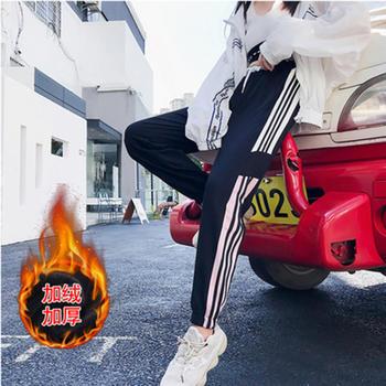 泽依加厚加绒运动裤女韩版