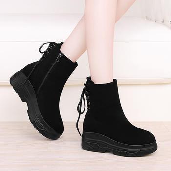 韩版女秋冬季百搭磨砂雪地靴