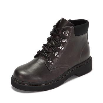 鞋柜系带平底马丁靴1116505246