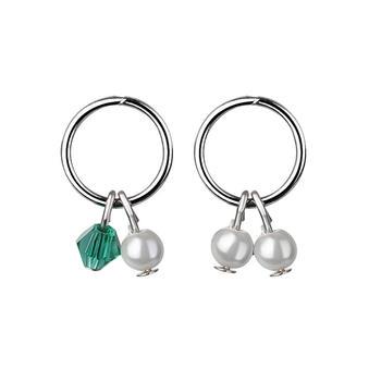 韩版个性圆圈小贝珠耳环
