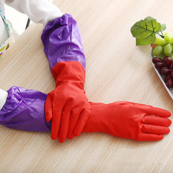 你那么美束口加绒洗碗手套乳胶