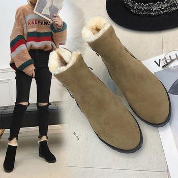 ins马丁靴女2018新款冬季短靴女
