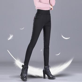 羽绒裤女外穿高腰弹力加厚白鸭绒