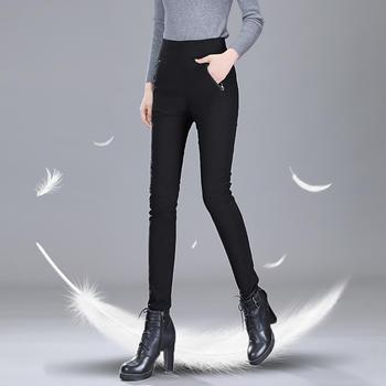 冬季羽绒裤女外穿高腰显瘦韩版