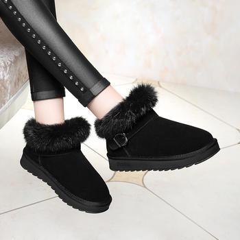 雪地靴新款面包鞋防水棉加绒短靴