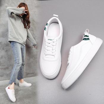 艾微妮热销学院风系带新款小白鞋