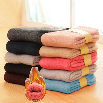 赛棉 5双装超加厚保暖袜子男女袜兔羊毛圈加绒女袜